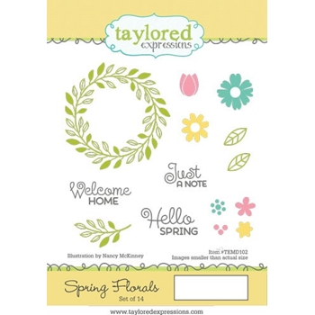 Taylored Expressions SPRING FLORALS Cling Stamp Set TEMD102