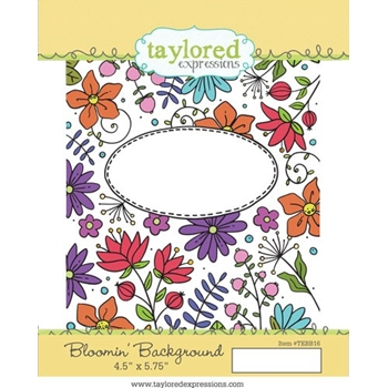 Taylored Expressions BLOOMIN BACKGROUND Cling Stamp Set TEBB16