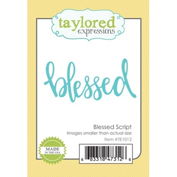 Taylored Expressions BLESSED SCRIPT Die Set TE1012