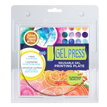 Gel Press 6 x 6 ROUND REUSABLE GEL PRINTING PLATE 10806