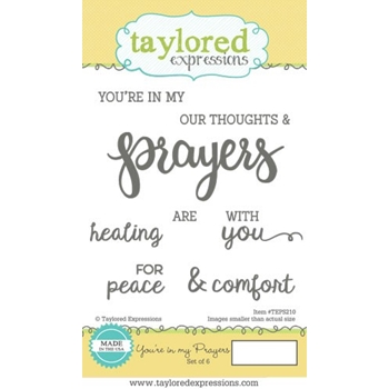 Taylored Expressions YOU'RE IN MY PRAYERS Cling Stamp Set TEPS210