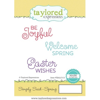 Taylored Expressions SIMPLY SAID SPRING Cling Stamp Set TEALC113