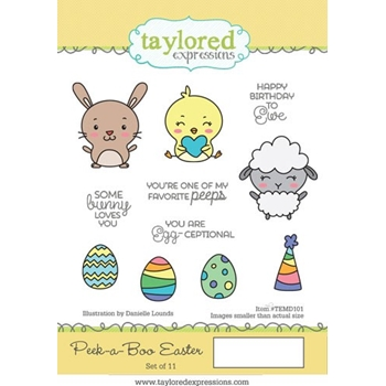 Taylored Expressions PEEK A BOO EASTER Cling Stamp Set TEMD101