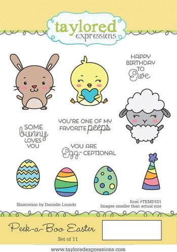 Taylored Expressions PEEK A BOO EASTER Cling Stamp Set TEMD101 zoom image