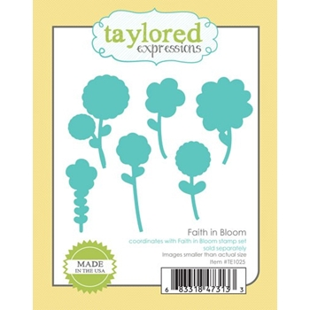 Taylored Expressions FAITH IN BLOOM Die Set TE1025