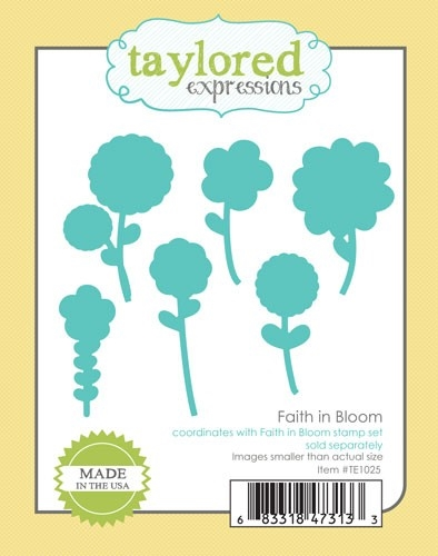 Taylored Expressions FAITH IN BLOOM Die Set TE1025 zoom image