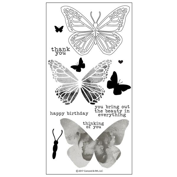 Concord & 9th BUTTERFLY BEAUTY Clear Stamp Set 10164C9 zoom image