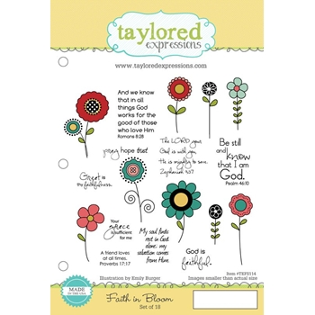 Taylored Expressions FAITH IN BLOOM Cling Stamp Set TEFS114