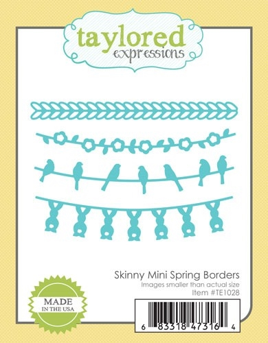 Taylored Expressions SKINNY MINI SPRING BORDERS TE1028 zoom image