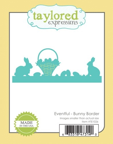 Taylored Expressions Eventful BUNNY BORDER Die Set TE1026 Preview Image