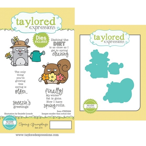 Taylored Expressions SPRING GRUMPLINGS Cling Stamp and Die Set TEPS208 Preview Image