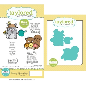 Taylored Expressions SPRING GRUMPLINGS Cling Stamp and Die Set TEPS208