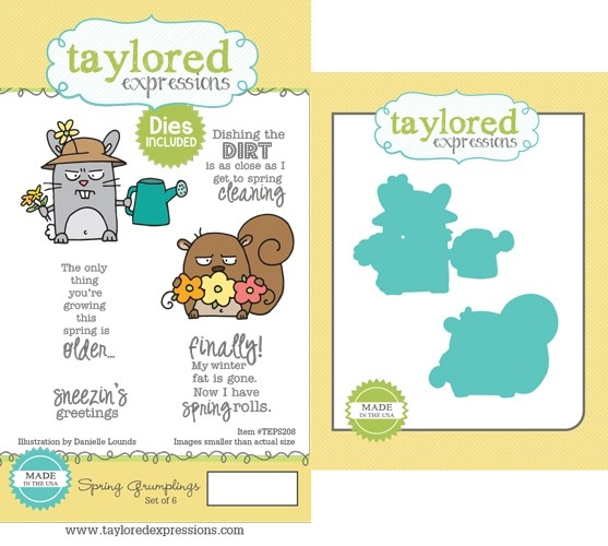 Taylored Expressions SPRING GRUMPLINGS Cling Stamp and Die Set TEPS208 zoom image