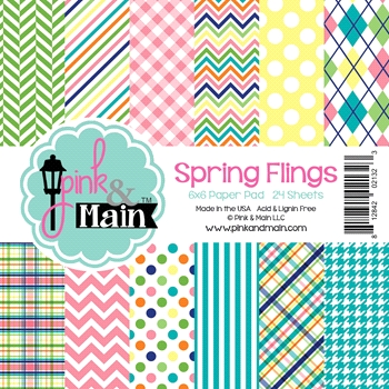Pink and Main 6x6 SPRING FLINGS Paper Pad