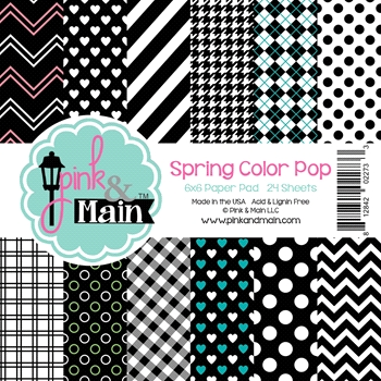 Pink and Main 6x6 SPRING COLOR POP Paper Pad