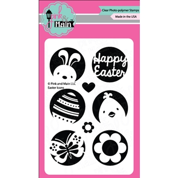 Pink and Main EASTER ICONS Clear Stamp Set