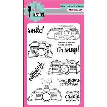 Pink and Main CANDID MOMENTS Clear Stamp Set
