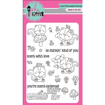 Pink and Main SCENTSATIONAL Clear Stamp Set