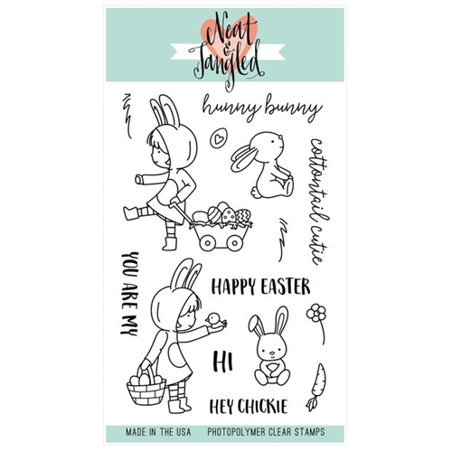 Neat and Tangled COTTONTAIL CUTIES Clear Stamp Set Preview Image
