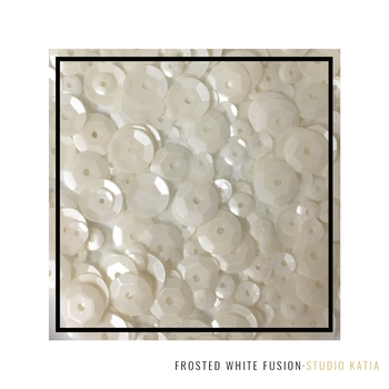 Studio Katia FROSTED WHITE Fusion Sequins SK2810