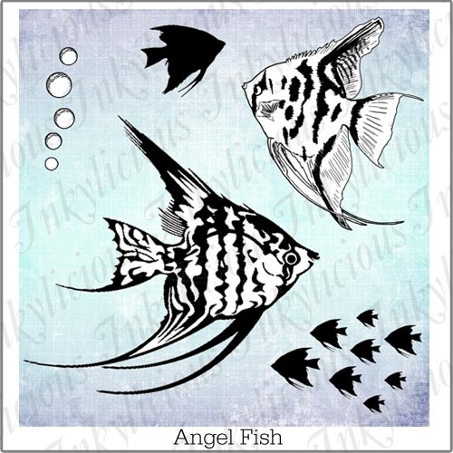 Inkylicious ANGEL FISH Clear Stamps 829956 zoom image