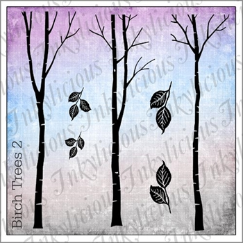 Inkylicious BIRCH TREES 2 Clear Stamps 829499