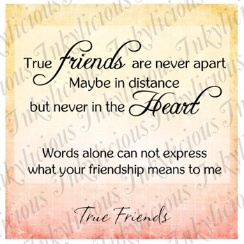 Inkylicious TRUE FRIENDS Clear Stamps 829994
