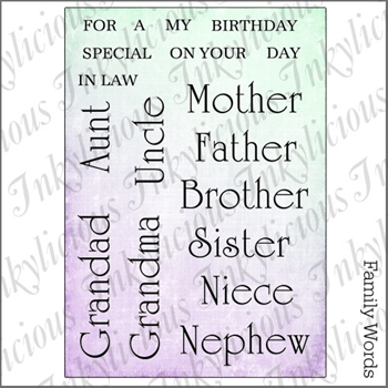 Inkylicious FAMILY WORDS Clear Stamps 829970