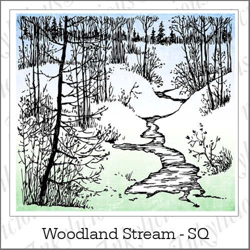 Inkylicious WOODLAND STREAM LARGE Clear Stamps 830044 Preview Image