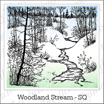 Inkylicious WOODLAND STREAM LARGE Clear Stamps 830044
