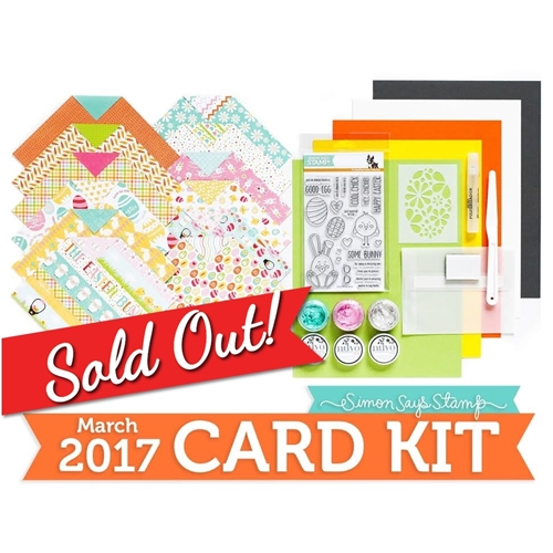 Simon Says Stamp Card Kit of The Month MARCH 2017 SOME BUNNY CK0317 Preview Image