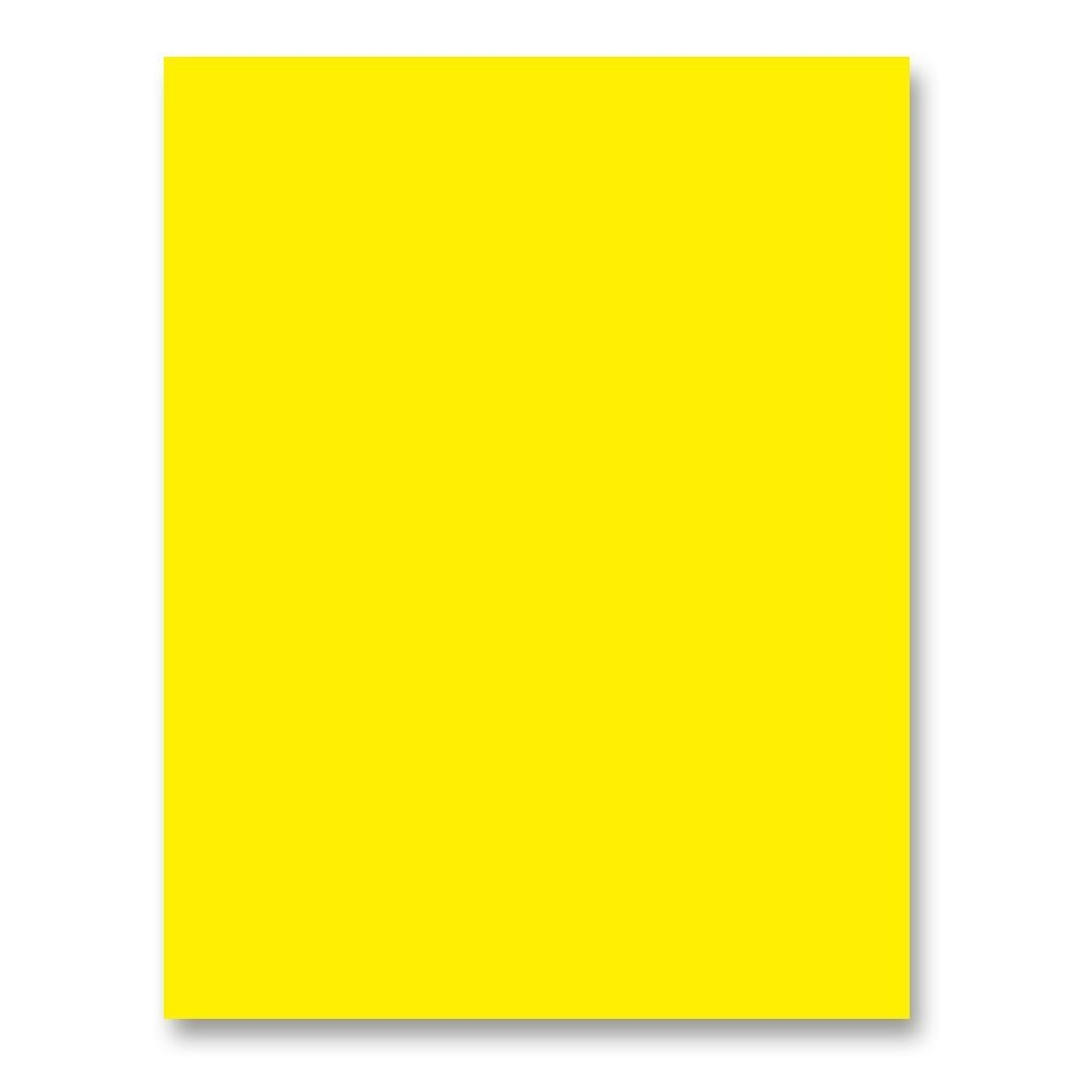 Simon's Exclusive Bright Yellow Card Stock