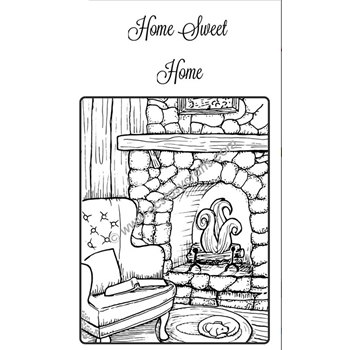 Creative Expressions HOME COMFORTS Sue Wilson Cling Stamp UMS774