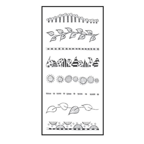 Dyan Reaveley CLEARLY BORDERS Stamp Set Dylusions Clear Stamps DYB40873 Preview Image