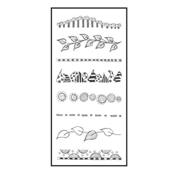 Dyan Reaveley CLEARLY BORDERS Stamp Set Dylusions Clear Stamps DYB40873