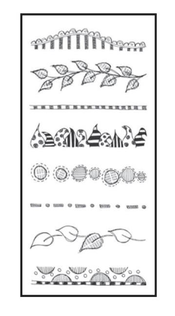 Dyan Reaveley CLEARLY BORDERS Stamp Set Dylusions Clear Stamps DYB40873 zoom image