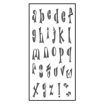 Dyan Reaveley CLEARLY ALPHA Stamp Set Dylusions Clear Stamps DYB41917