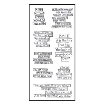 Dyan Reaveley CLEARLY THE RIGHT WORDS Stamp Set Dylusions Clear Stamps DYB39587