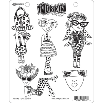 Dyan Reaveley MINI ME Cling Stamp Set Dylusions DYR55488*