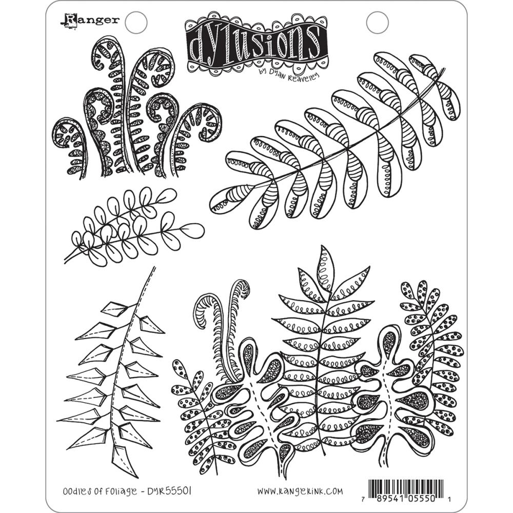 Dyan Reaveley OODLES OF FOLIAGE Cling Stamp Set Dylusions DYR55501 zoom image