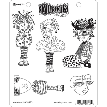Dyan Reaveley MINI MOO Cling Stamp Set Dylusions DYR55495