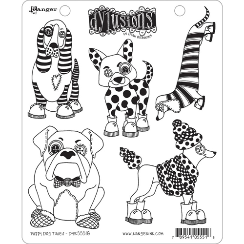 Dyan Reaveley PUPPY DOG TALES Cling Stamp Set Dylusions DYR55518 Preview Image