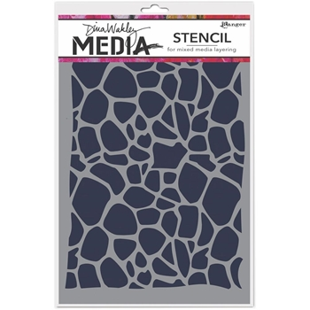 Dina Wakley CELLULAR Media Stencil MDS54429