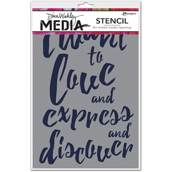 Dina Wakley I WANT Media Stencil MDS4436