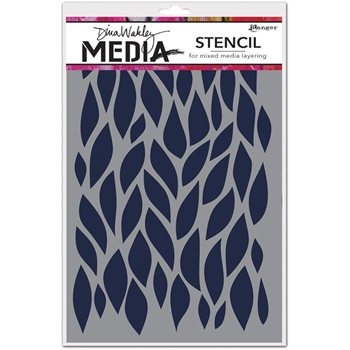 Dina Wakley BIG LEAFY Media Stencil MDS54412