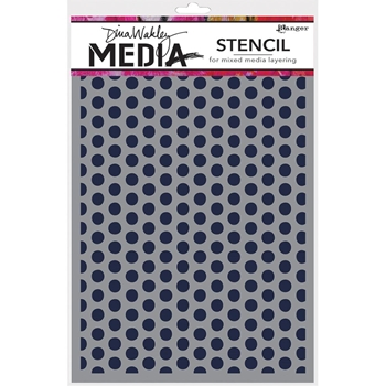 Dina Wakley SPACED DOTS Media Stencil MDS52432