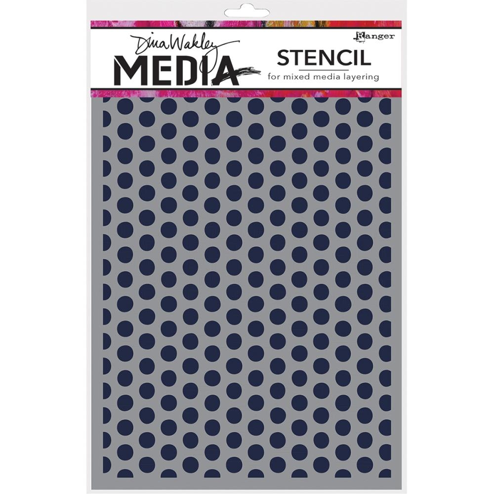 Dina Wakley SPACED DOTS Media Stencil MDS52432 zoom image