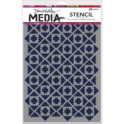 Dina Wakley ALMOST IKAT Media Stencil MDS52401 Preview Image