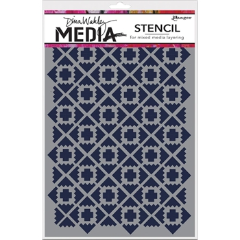 Dina Wakley ALMOST IKAT Media Stencil MDS52401