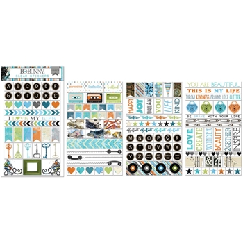 BoBunny LIFE IN COLOR Clear Stickers 21302964*
